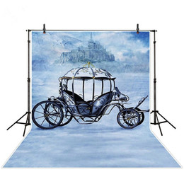Wholesale Princess Carriages - 5x7ft Princess Carriage Photography Backdrops Mysterious Hill Mist Retro Vintage Castle Photo Studio Backgrounds Photobooth Props