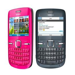 Wholesale Phone Original Size - C3-00 Original Nokia C3-00 Bluetooth FM JAVA 2MP small size Unlocked refurbished Mobile Phone