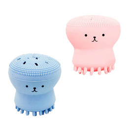 Wholesale face wash blackheads - 2017 Wash Brushes Super Little Cute Octopus Face Cleaner Massage Soft Silicone Facial Brush Face Cleansers Blackhead Spot Acne