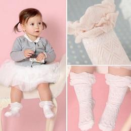 Wholesale Korean Lace Slip - Kids lace socks new korean children socks girls non-slip cotton soft knee socking children long sock leg girls princess socks A0365