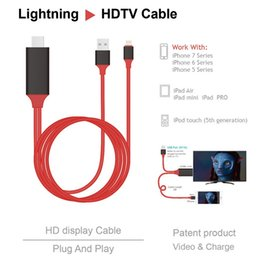 Wholesale Digital Av Hdmi Hdtv - Mirascreen Wire Lightning to HDMI HDTV AV USB OTA PLAY AND PLUG Digital Adapter Charger Cable Sync for iPhone IPAD 2M with retail package