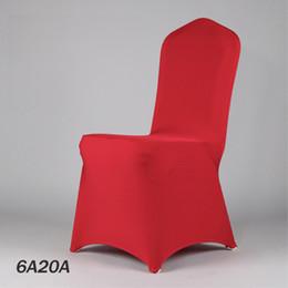 2019 copertine rosse in lycra 100PCS 50Color Wedding Chair panno rosso banchetto Lycra copertura della sedia ristorante sede di nozze copertura dal produttore 20170629 # sconti copertine rosse in lycra