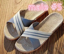 Wholesale Straw Shoes Men - Summer Fashion Slippers Kids Men And Women Bottom Thick Living At Home Slippers Couples Linen Non-slip Comfortable Shoes