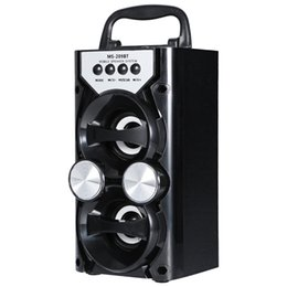 Cartão sem fio de alta potência on-line-Redmaine portátil de alta potência de saída de rádio fm sem fio bluetooth speaker suporta fm tf cartão de controle de volume