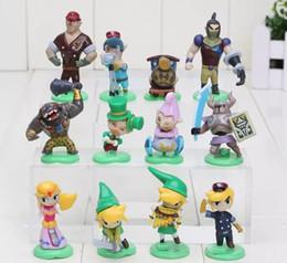 Wholesale Collection Eggs - 12 pieces   lot Furuta Choco Egg Legend About zelda PVC figurines Collection Model Toys Dolls Children Gifts 3.5-5.6 cm