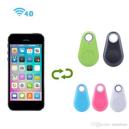 Wholesale Universal Shutter - Anti Lost mini Smart bluetooth Alarm GPS Tracker Locator Remote Control Shutter Android IOS Retail pakcaging