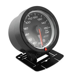 Wholesale Red Engine Oil - Universal 2.5Inch 12V LED Auto Gauge Oil Temperature Meter 4-   6-   8- Car Cylinder Engines Black Shell with Red & White Lighting AGA_600