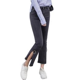 Wholesale Fancy Tassels - Wholesale- 2017 New Summer Jeans Boyfriends Fancy Tassel Jean Boyfriend Femme High Waist Jeans for Women Plus Size 3XL Pantalon Femme FL489