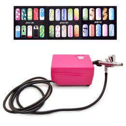 Wholesale Nail For Gun - Wholesale- New Precision Dual-action Airbrush Kit Pen Makeup Spray Gun for Nail Body Paint Art Drawing with Air Compressor, Horse