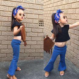 Wholesale Children Autum Clothes - spring autum Child girl cowboy pants girls pants boot cut cowboy pants for cute girls children clothes solid Lolita Style pant china new