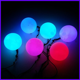 Wholesale High Quality Belly Dance - High Quality POI LED Luminous Throw Balls Diameter 8cm for Belly Dance Stage Performance Talent Show Hand Props Gradient Change Color