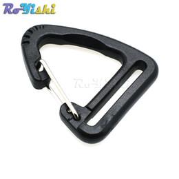 Wholesale Hook Plastic Buckle - 50pcs lot 1''Plastic Buckles Hook Climbing Carabiner Hanging Keychain Link Backpack Strap Webbing 25mm