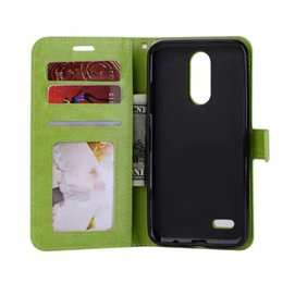 Wholesale green screen photos - Crazy Horse Wallet Leather Case Cover with Photo Frame for LG K4 2017 K8 2017 K10 2017 X screen