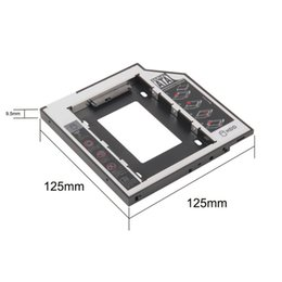 Wholesale Dvds For Sale - Wholesale- 2017 Newest Wholesale Store 9.5mm for Laptop CD DVD-ROM ODD Universal SATA 2nd HDD SSD Hard Drive Caddy Optical Bay Hot Sale