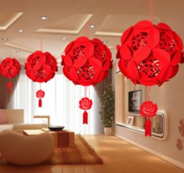 Wholesale Double Happiness Wedding Decorations - hanging wedding flower decoration double happiness wedding decorationsdouble happiness decoration
