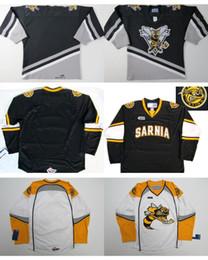 Wholesale Custom Hockey Jerseys Cheap - 2016 Cheap Customize OHL Sarnia Sting Jersey Mens Womens Kids Stitched Hockey Jerseys Custom Any name Any NO.Goalit Cut Jerseys