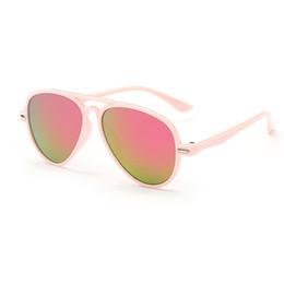 Wholesale Mirrors Children - Wholesale-8 color Children Kids UV400 Sunglasses Mirrored Lens Eyewear Outdoor Sun Glasses everyday casual