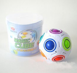 Wholesale Funny Footballs - 7 5mz Spherical Cubes Rainbow Ball Football Magic Speed Cube Puzzle Children Educational Toys GMF For Baby Kids Funny Toy Gifts