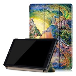 Wholesale printing tabs - Tablet Case For Samsung Galaxy Tab A 10.1 (2016) Case Slim Lightweight Folio Standing Cover Premium Ultra Thin Tablet Cover