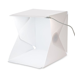 Wholesale Mini Light Photo - Mini Photo Studio Led Light Room Foldable Shooting Tent Photography Lighting Tent Kit with White and Black Backdrop Lightbox