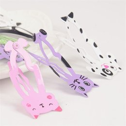 Wholesale Mix Snap Hair - 2017 6Pcs Lot Fashion Women Animal Hairpin headwear kid's barrettes Hair clips Jewelry Snap Clips Children Hair Accessories