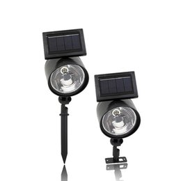 Wholesale Solar Led Lights China - LED Solar Flood Wall Lights 4LEDs ABS Spotlight Power Garden Path Lamps Outdoor Waterproof Stairway Home Yard Park Lighting Direct China