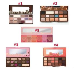 Wholesale Glitter 12 Pcs - NEW arrival HOT Makeup Chocolate Bar Eyeshadow palette semi-sweet bonbons sweet peach 16 Color Eye Shadow palette 12 pcs dhl