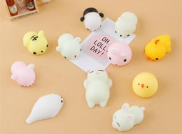 Wholesale Kids Squeeze Toy - Novelty Toys Antistress ball Mini Squeeze Toy Squishy cat Cute Kawaii doll Squeeze Stretchy Animal Healing Stress Fidget vent Toys Free Deli