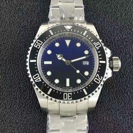 Wholesale Eta Watches - Top Quality AAA Mens waterproof Watch 44mm Blue Ceramic Bezel Sea Dweller Swiss ETA 2836 Movement Automatic Man Watches