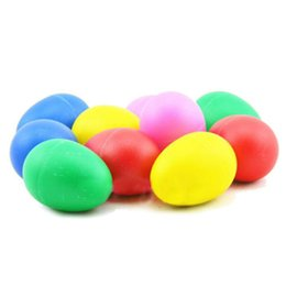 Wholesale Wholesale Music Eggs - Wholesale- 5Colors colorful eggs baby rattles, shake have music, baby hands shaking toys, bebe music toys Birthday Gift free shipping