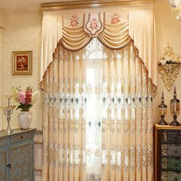 Wholesale Wholesale Curtain Fabric - Modern Simple Jacquard Curtain Chenille Fabric Embroidery Curtain High Quality Curtain For Live Room Bedroom