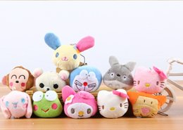 Wholesale Animal Head Plush Toys - Cell Phone Straps Charms Plush cartoon animal head phone mini pendant doll toy small gift toys 020