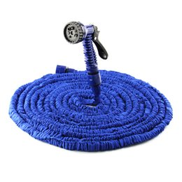 Wholesale Expandable 75ft - Veconor 25ft 50ft 75ft 100ft expandable flexible magic water hose pipe with spray nozzle gun garden hose retractable water pipe + joint