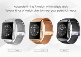 Wholesale Stainless Watches Camera - High quality High quality Bluetooth Smart Watch Phone Z60 Stainless Steel Support SIM TF Card Camera Fitness Tracker GT08 GT09 DZ09 A1 V8
