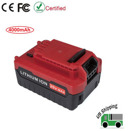 Wholesale Lithium Ion Battery For Tool - 20V 4.0Ah Lithium ion Battery for Porter Cable 20Volt Cordless Tools Battery PCC685L PCC681L PCC680L PCC682L PCC600
