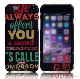 Wholesale Iphone Case Romantic - Vodex cases romantic graffiti letters fluorescent water mobile phone protection shell 3D relief for iPhone7 plus cases