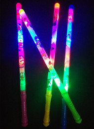 Wholesale Flashing Spoon - 48 cm cartoon rods LED our colorful flashing concert glow stick wholesale cartoon rods