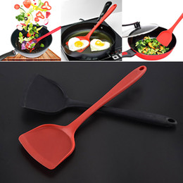 Wholesale Spatula Shovel - Newest Silicone Spatula Long Handle Not Sticky Pot Heat Resistant Shovel Food Grade Kitchen Tools Cooking Utensils 33*10.3CM WX9-09