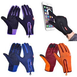 Wholesale Long Gloves For Men - New Winter Windproof Warmer Cycling Glove for Men Women Waterproof Long Finger Shockproof Sports Mtb Gloves luvas ciclismo