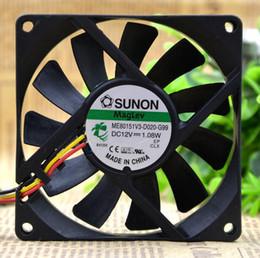 Wholesale 12v Cpu Fans - SUNON ME80151V3-D020-G99 8015 12V 1.08W 8cm 80*80*15mm 3lines CPU fan