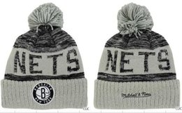 Wholesale Paisley Basketball - fashion style newst Brooklyn beanies Hot Sale Cotton Knit Basketball Team net Beanies Hat Striped Cuff Winter Hats For Men football Skullies