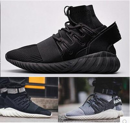 Wholesale Bu Red - 2017 new Black Knight Bu men's running shoes tide upon high socks shoes help small coconut