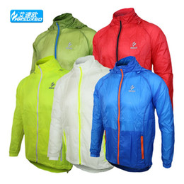 Wholesale Thin Red Trench Coat - Wholesale-spot-skin trench coats running outside to ride super thin and light-proof clothes-anti-UV breathable Jacket