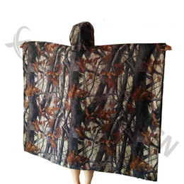 Wholesale Outdoor Rain Poncho - 3in1 Outdoor Military Camouflage Raincoat Rainwear Poncho Backpack Rain Cover Waterproof Tent Mat Hunting Camping Picnic mats