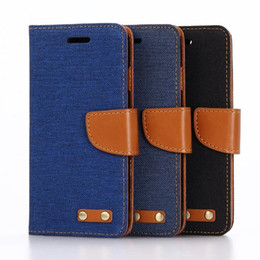 Wholesale Blue Jean Wallet - Jean Wallet PU Leather Case With ID Credit Card For iphone 7 case , Fashion Flip Cover Wallet Cases with Stand Flip Cover Protector