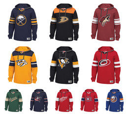 ali pullover Sconti Personalizzato NHL Hockey Hoodie Pullover Nashville Predators Detroit Red Wings Montreal Canadiens San Jose Sharks Pittsburgh Penguins Sabres