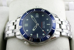 Wholesale Blue Water Watches - 2016 Luxury Mens Professional 300m James Bond 007 Blue Dial Sapphire Automatic Watch Men's Watches