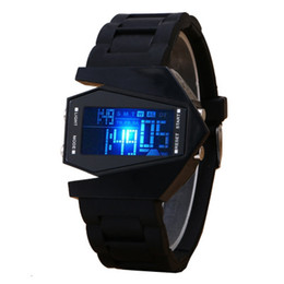 Wholesale Silicon Watch Date - Fashion Multi Function LED Light Student Digital Watches Woman Man Sport Silicon Wristwatches with Date Clock Functions 50pcs lot