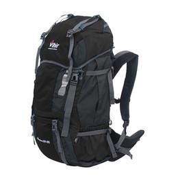 Wholesale Internal Covers - Vihir Outdoor Nylon 60L+10L internal frame Waterproof Full Zipper Travel Hiking Professional Backpack with Rain Cover