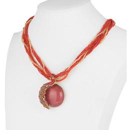 Colar de cores de pavão on-line-Gem Pavão Colar 6 cores opcional Acessórios de vestuário Moda corrente de suspensão Colar de artesanato